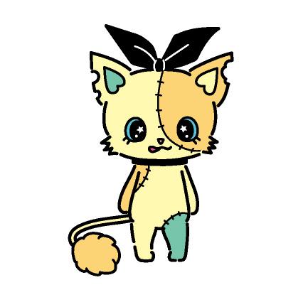Rico(リコ) メインダンサー イエローのつぎはぎ猫。 ハイテンションでついついベロが出ちゃう。 キレキレのダンスでみんなをノリノリにさせる。