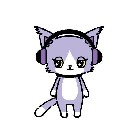 Layla(レイラ) ラッパー すみれ色のハチワレ猫。 いつもヘッドフォンをして すました顔をしている。 ラップでステージを 盛り上げる。