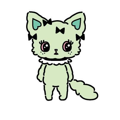 Emma(エマ) メインダンサー ミント色のふわふわ猫。 おっとりしてて天然。 しなやかなセクシーダンスが得意。 キュートなハイトーンボイスの持ち主。