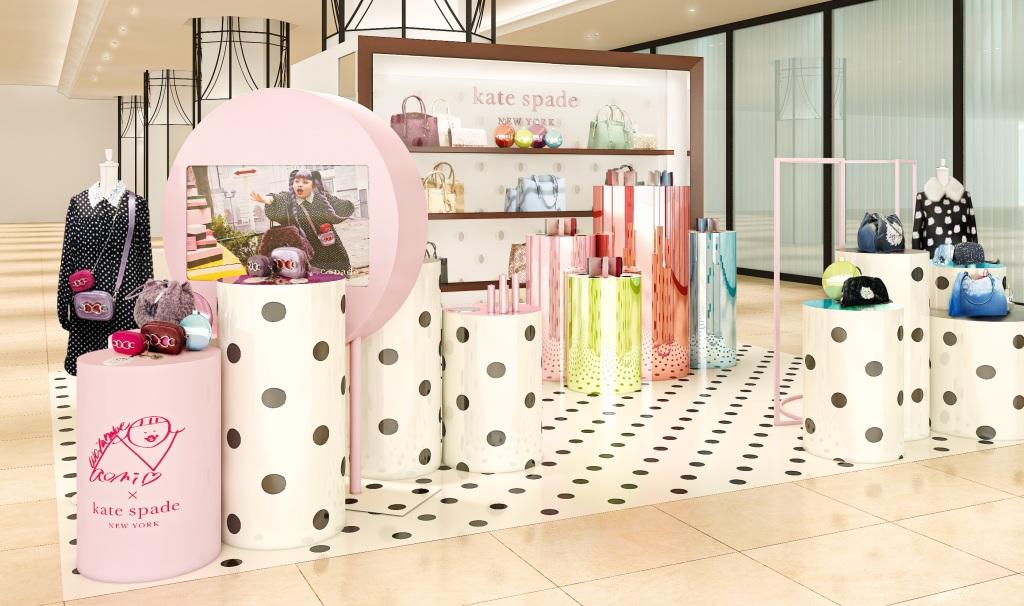 naomi watanabe x kate spade new york capsule collection pop-up shop: グローバルアンバサダーの渡辺 直美さんとのコラボレーションによるカプセルコレクションの発売を記念したpop-up shopを11月25日に阪急うめだ本店にオープンします。